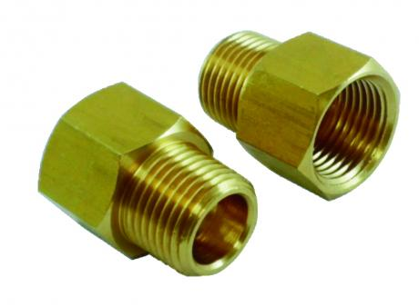 Four distribution pipe fittings